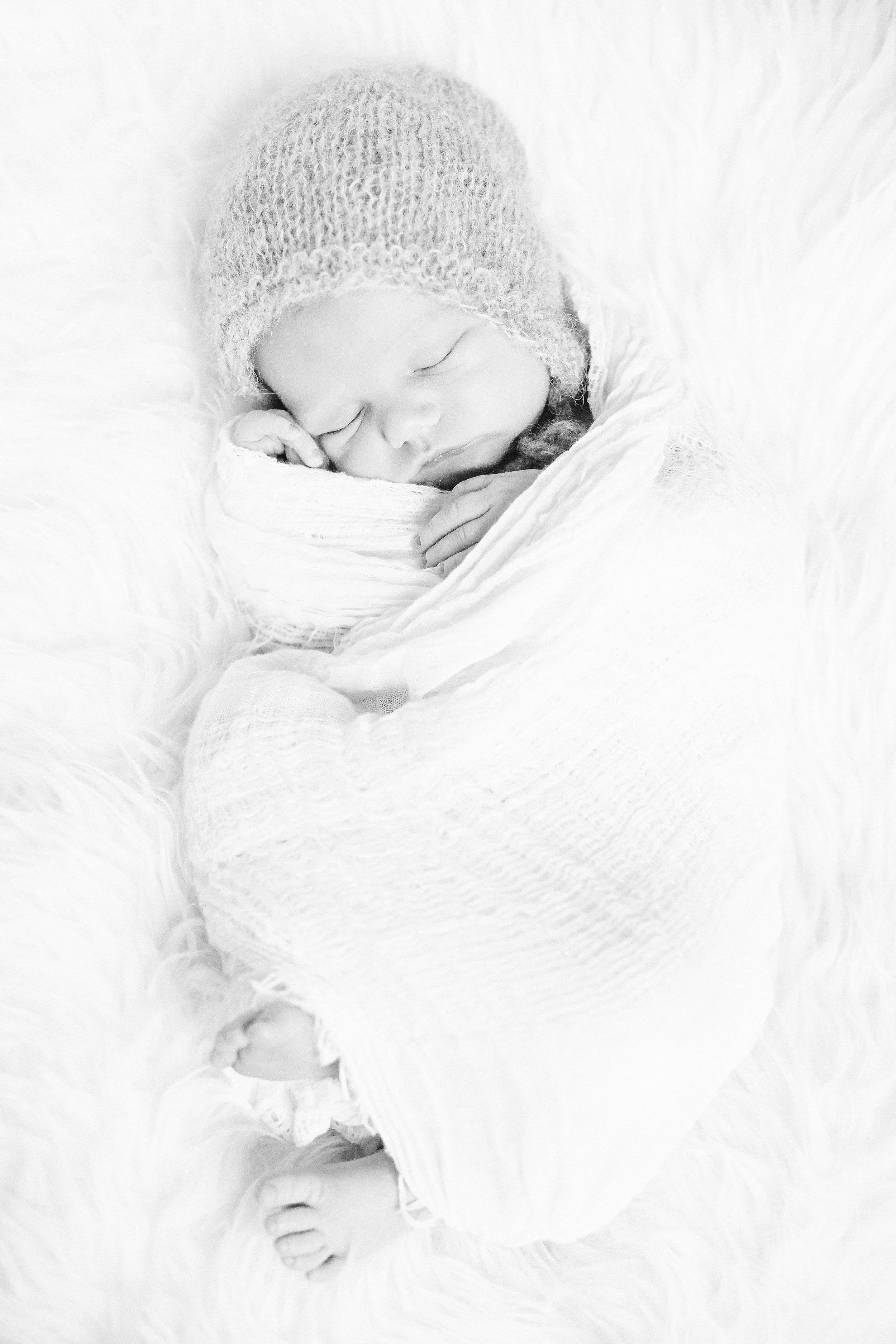 Sleeping Baby Newborn Photography by Cassie Schott Photography