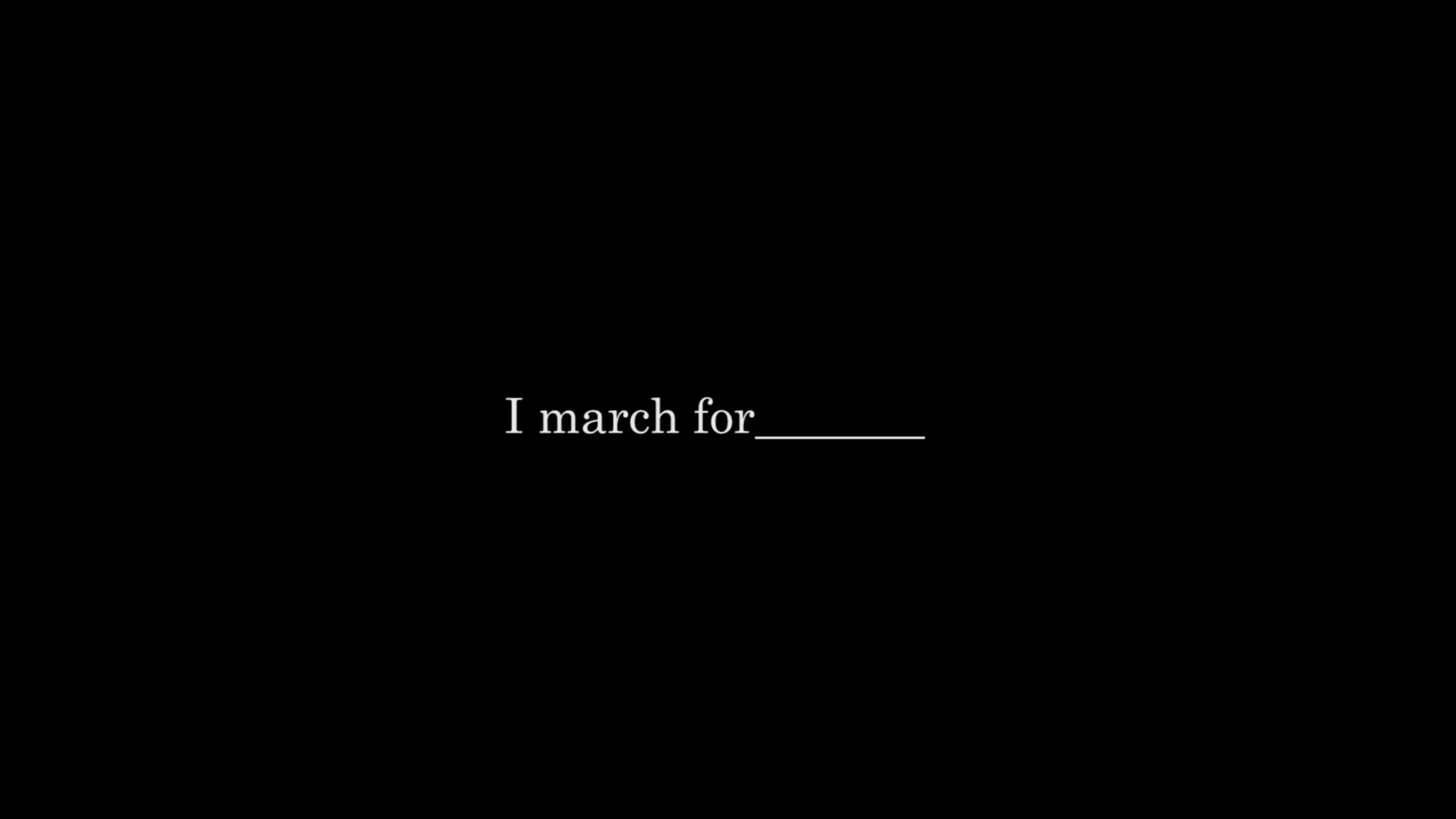 I March For ___ // March On Washington Shor t // Set Design