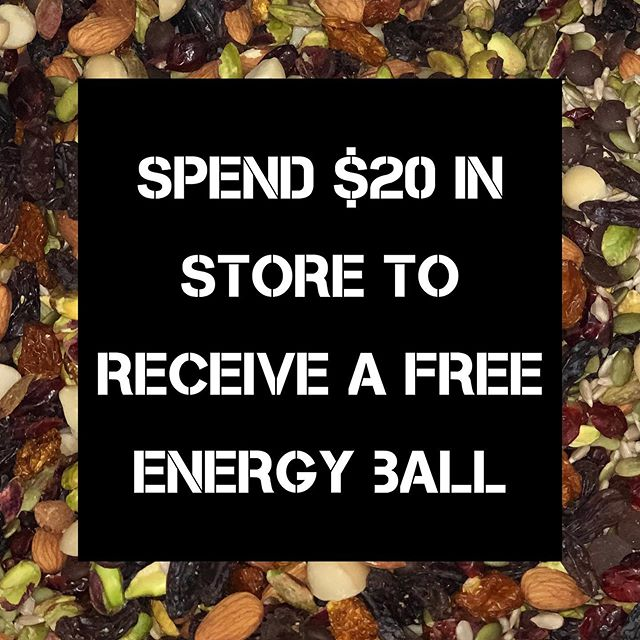 GUESS WHAT!  SEPTEMBER SPECIAL 🌹 Come in and spend $20 throughout the field, and receive one of our healthy energy balls we make in store for FREE! 🍬 - - - Golden Grove Store! September only 01/09/19 - 30/09/19 #vegan #thefieldwholefoods #wholefoods #organic