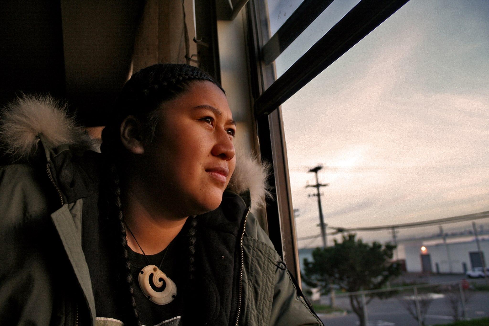 Melesaine in her family home on Oakdale Ave. in Bayview San Francisco, Ca. (Photo: Jason Meki)