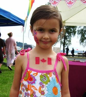 Airbrush - Canada Flag on Girl's Chest Small.jpg