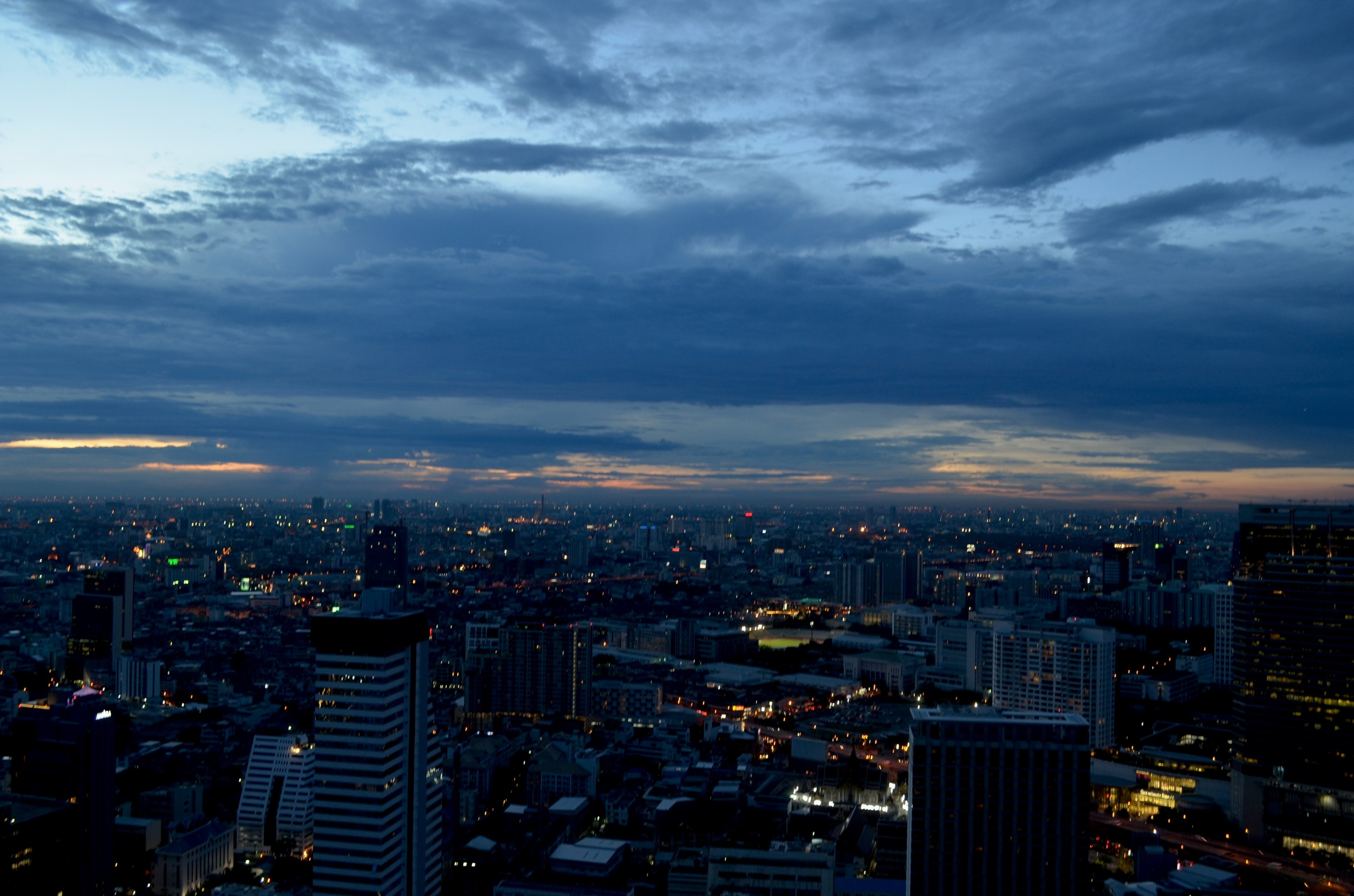 If I had let fear stop me, I would have never gazed across the Bangkok skyline as the sun set.