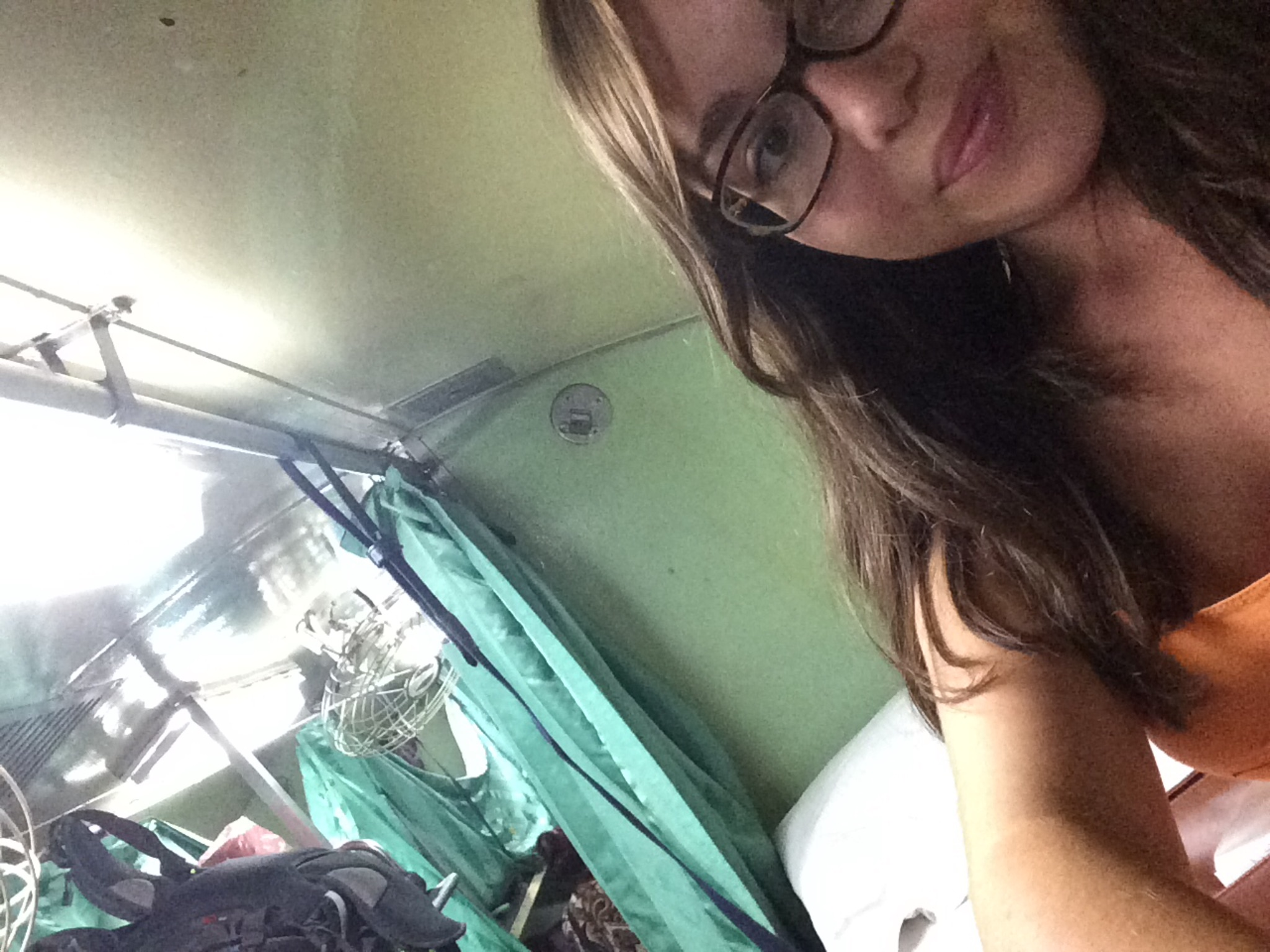 Sometimes efficient accommodation means sleeping on the train!