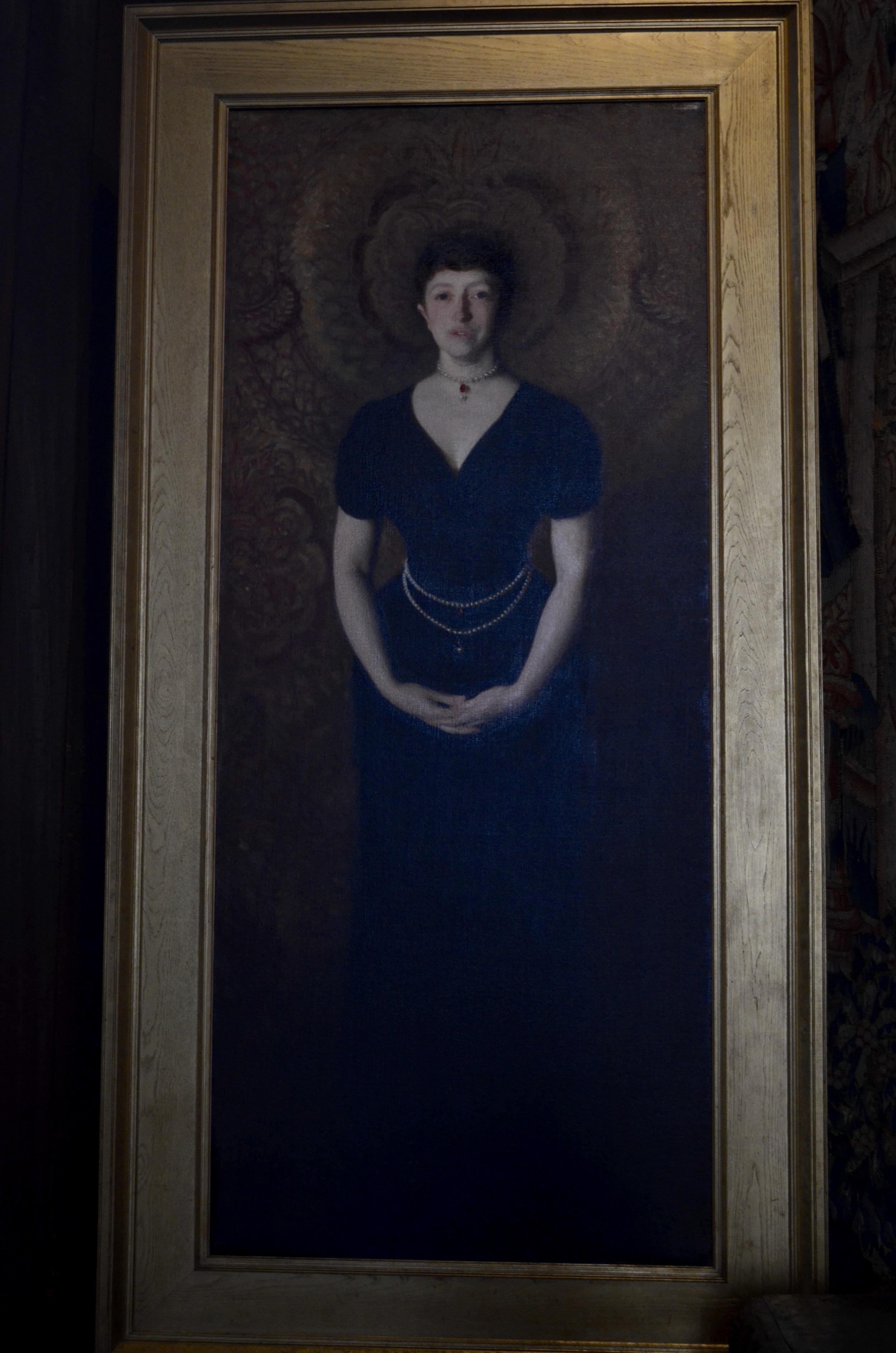 Portrait of Isabella Stewart Gardner herself, painted by her friend John Singer Sargent