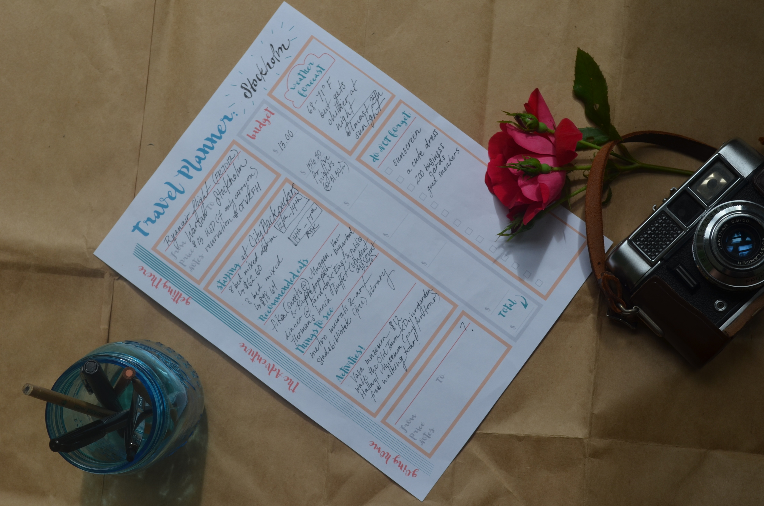 Get super ready for your next trip with  my travel planner !