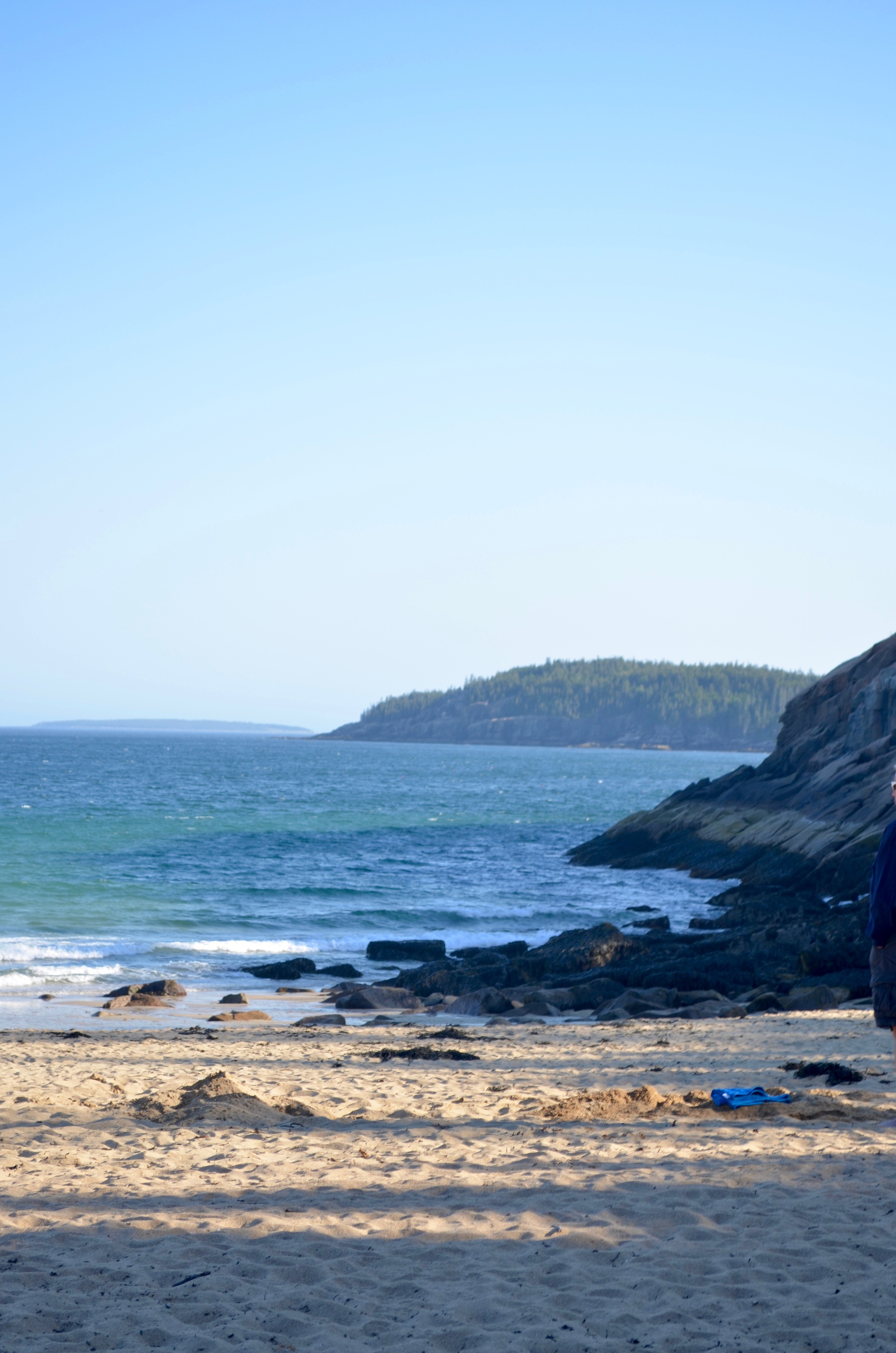 Sand Beach, the only beach in Maine that isn't all rock.