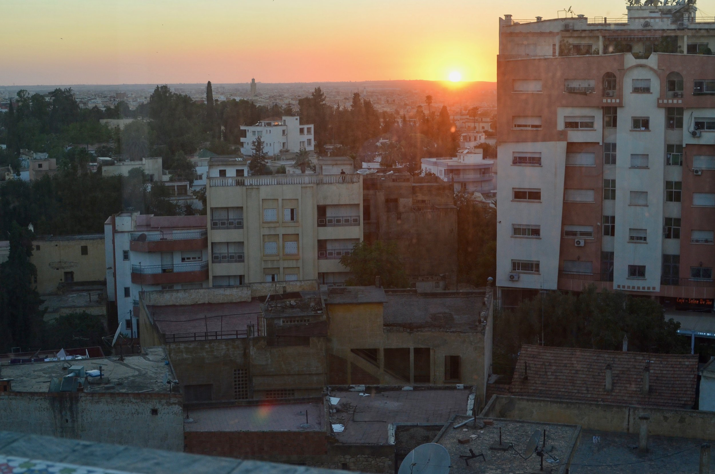 a rooftop view of Meknes