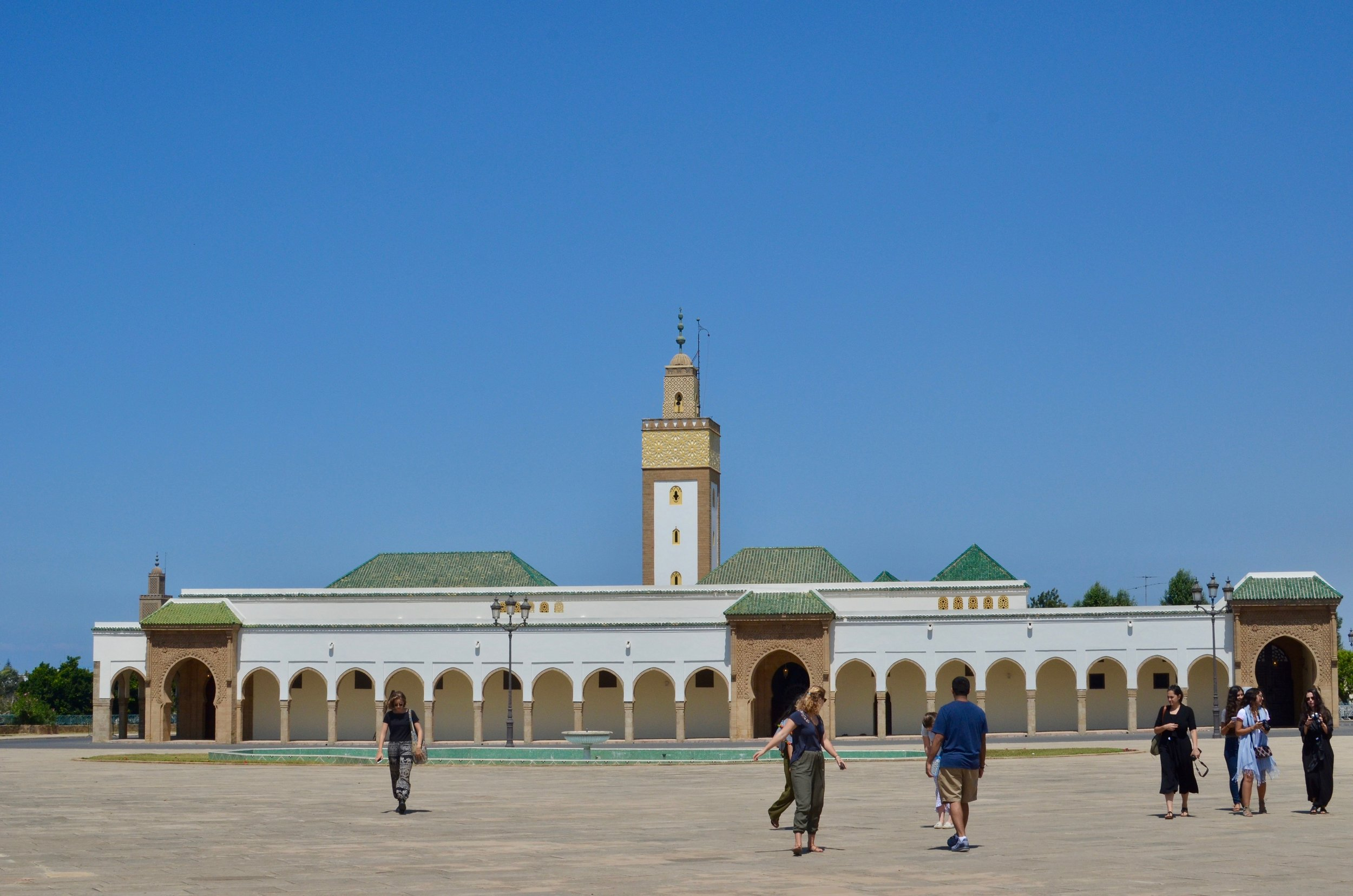 study abroad trip to the royal palace in Rabat