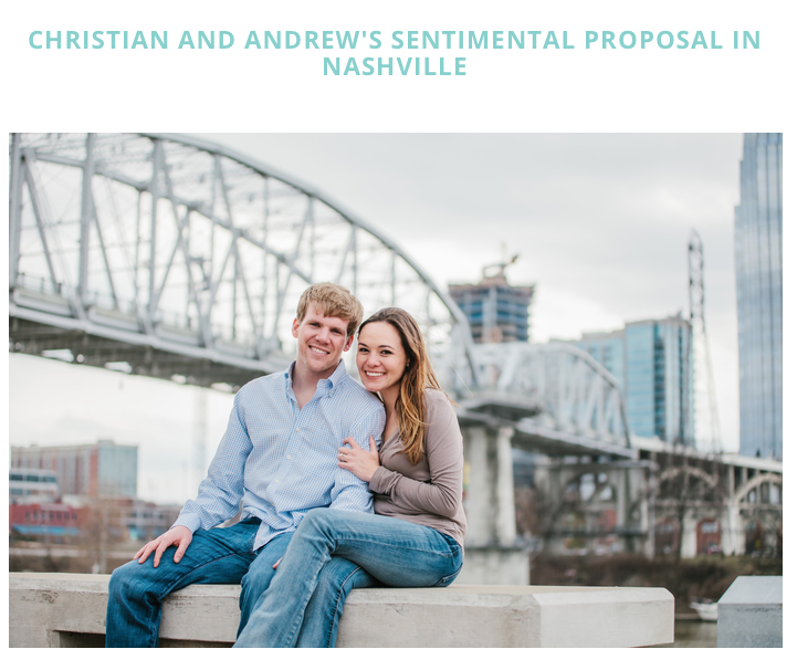 Click here to read the sweet couples story in  How He Asked!