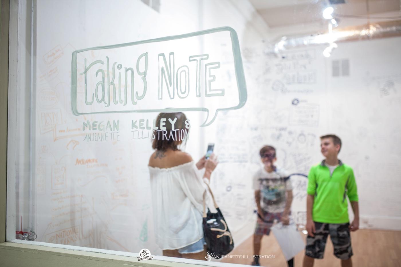 nashville art crawl taking note anjeanette illustration