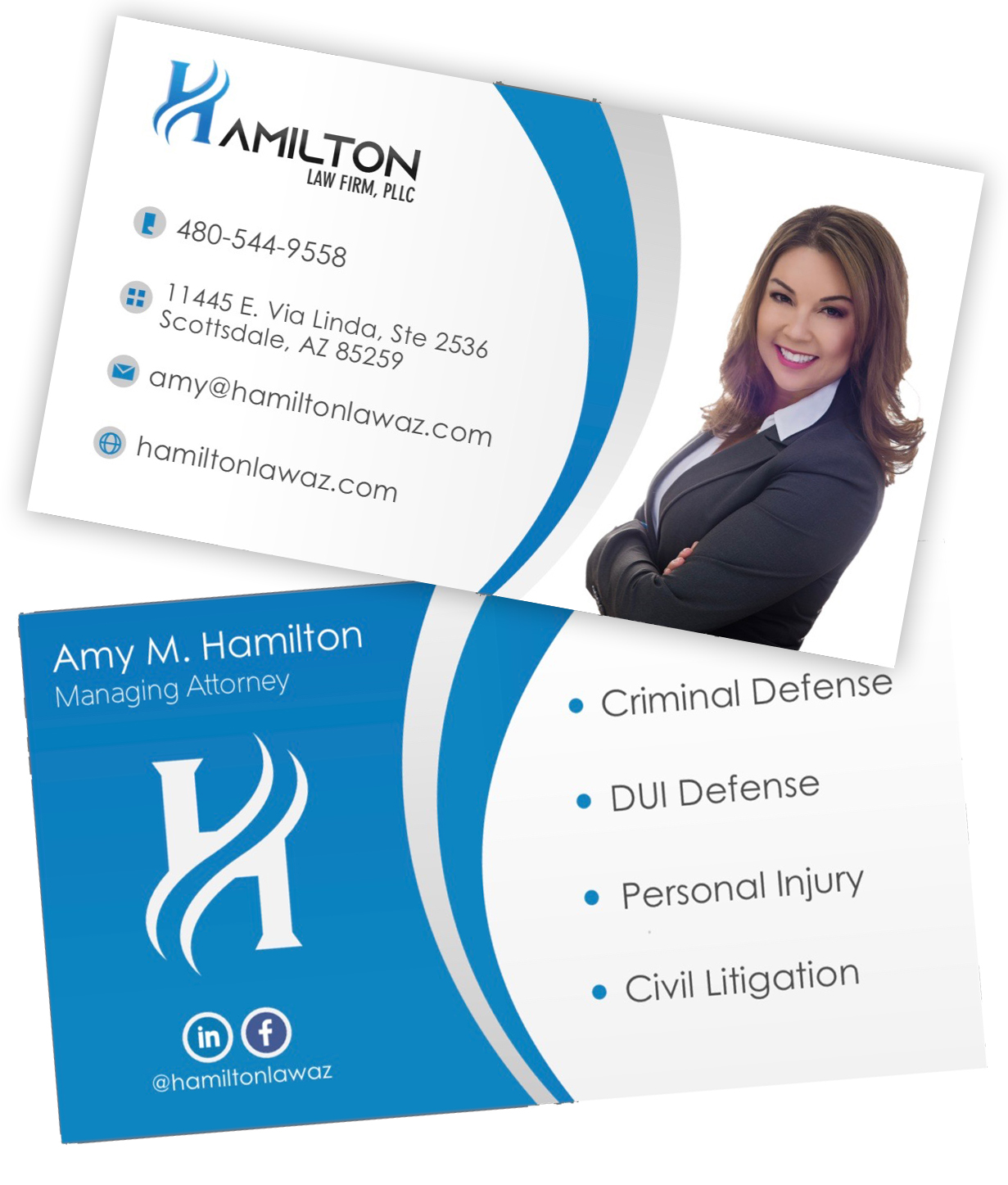 - Check out Amy's business cards!