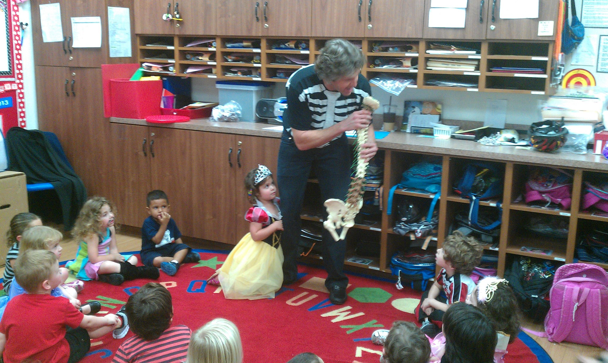 Dr. Miller at school outreach program.