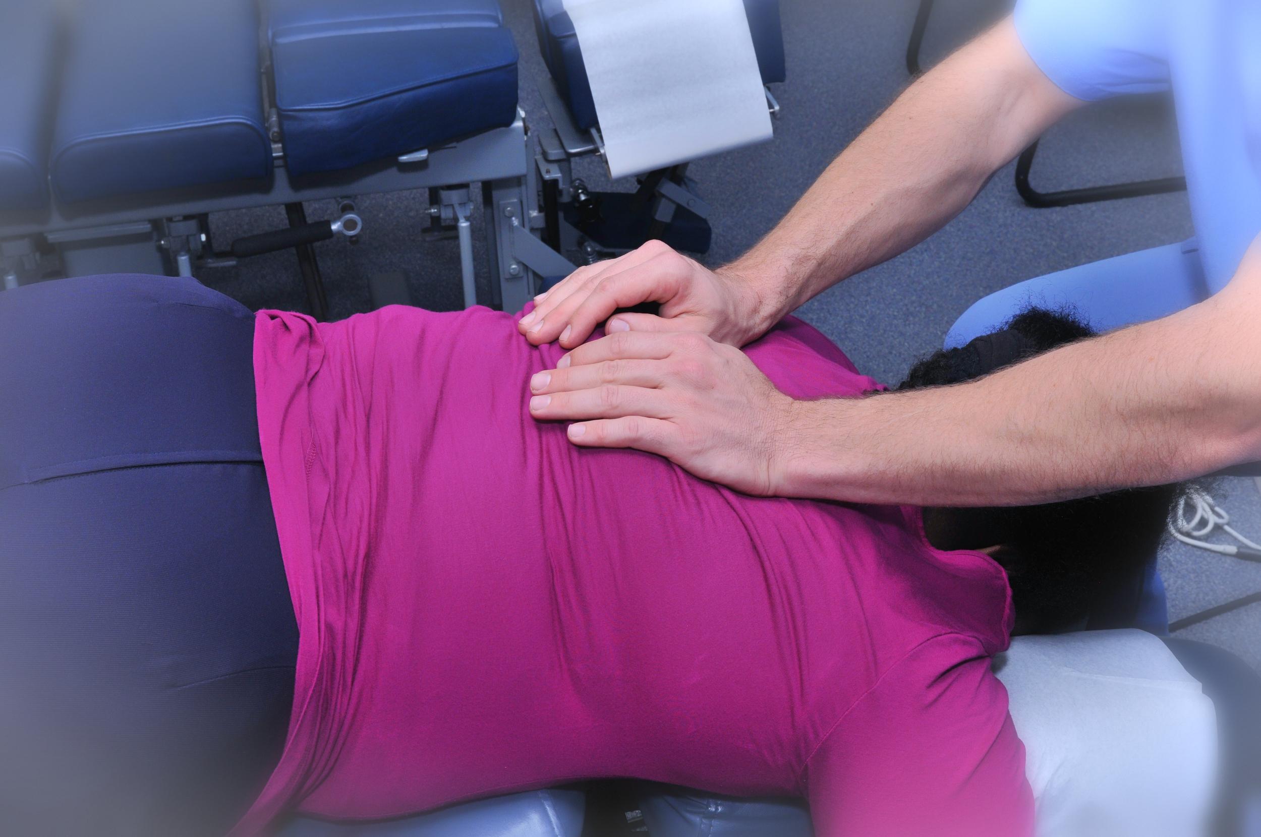 Chiropractic adjustment.