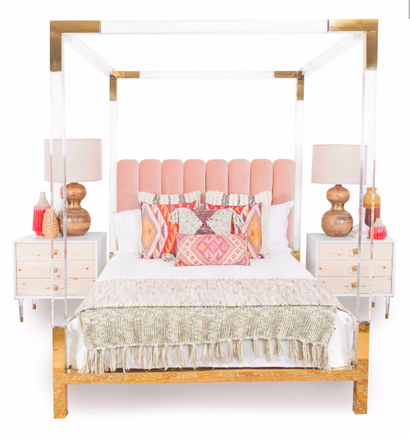 Four Poster Lucite Bed - ModShop