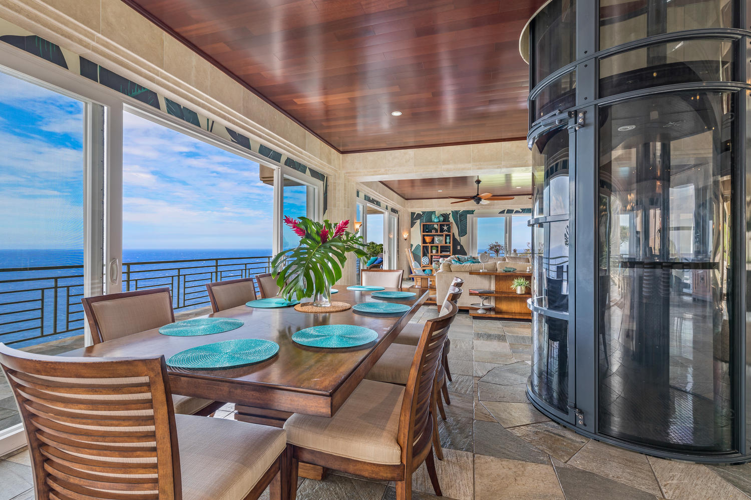 Dining room with stunning ocean view!