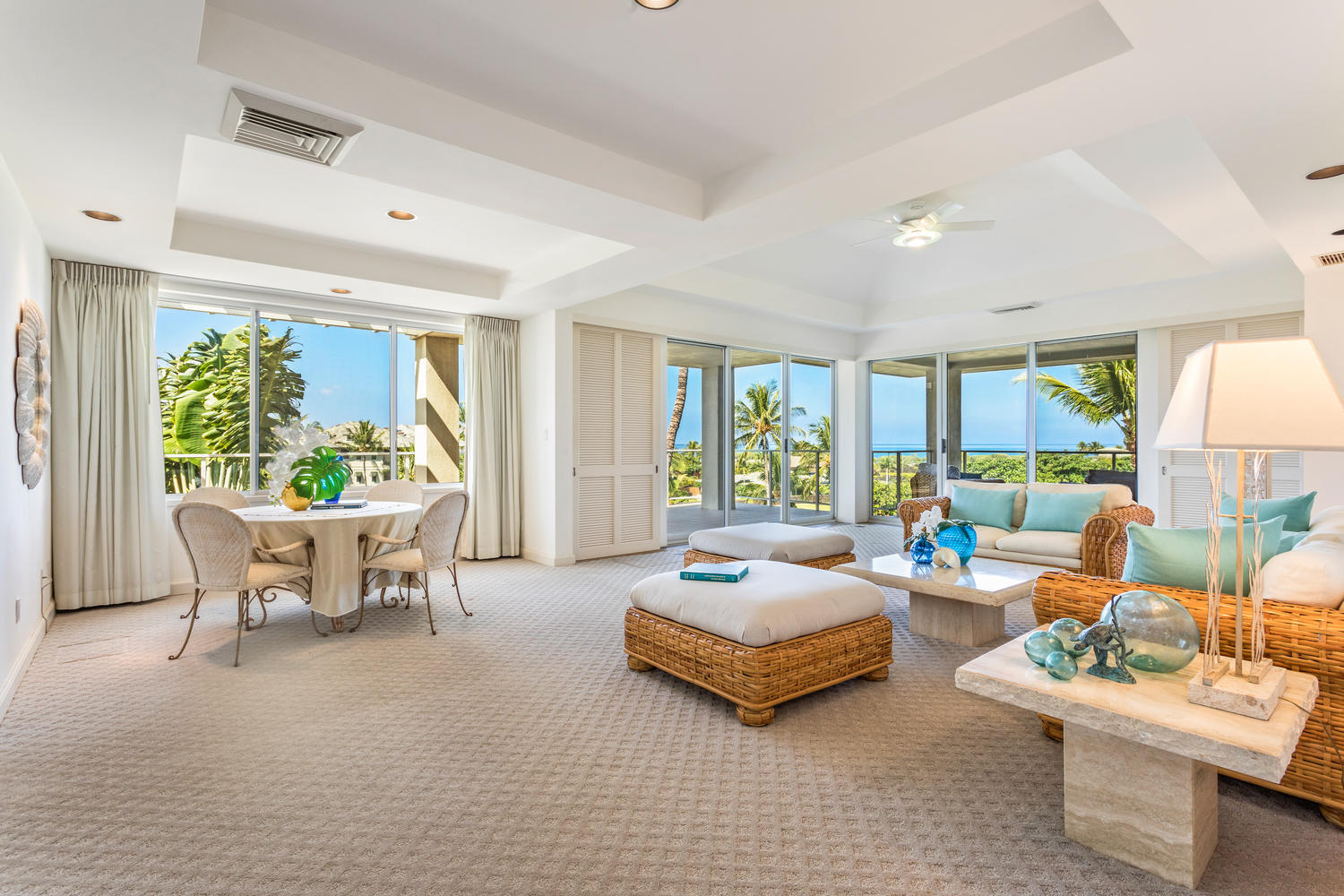Uncluttered spaces are essential; pare down your furnishings | Vista Waikoloa B-304 offered at $1,350,000.