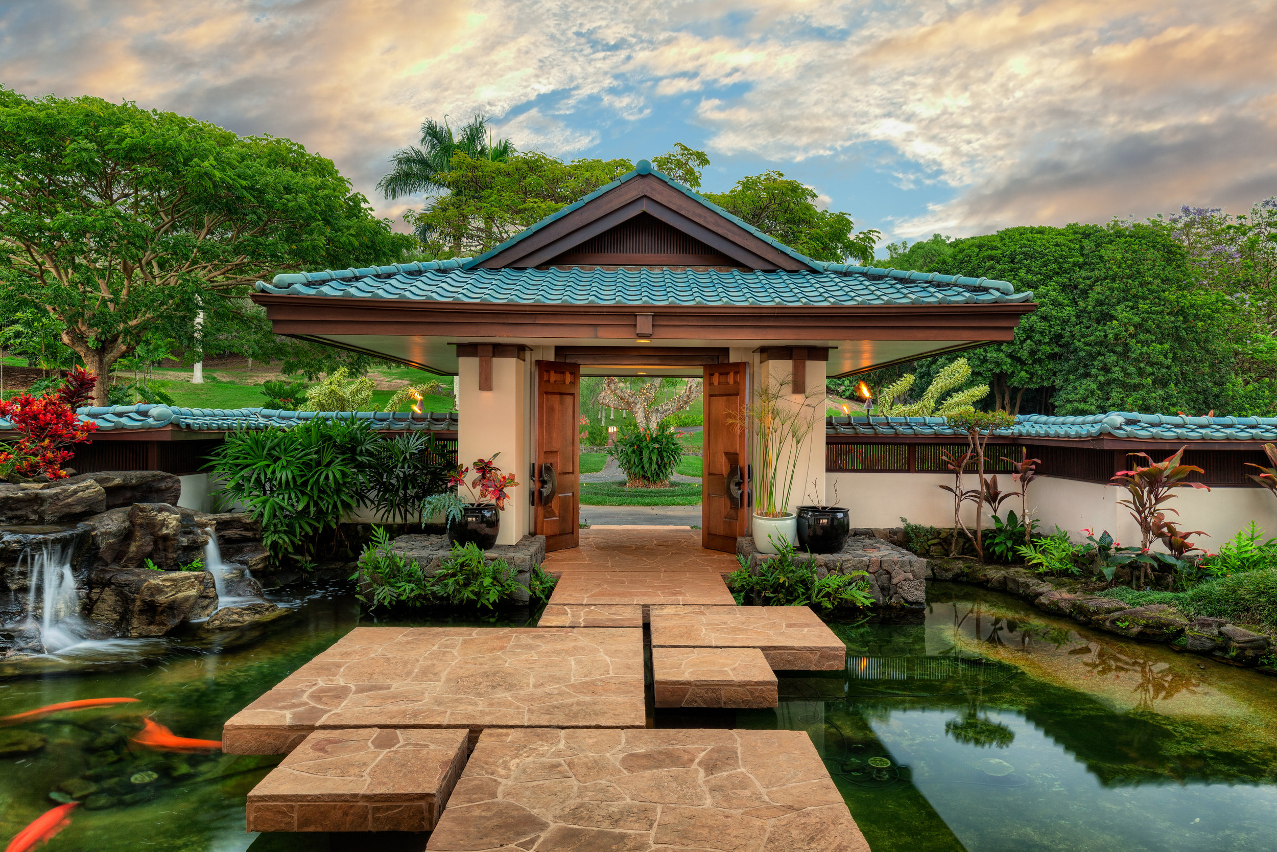 Details including a Koi Pond Entry, add value to a home. ( MLS #614895 )