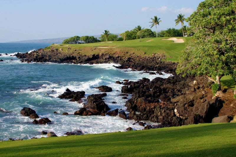 The Mauna Lani Resort is home to one of the most photographed over-the-ocean golf course holes in the world.