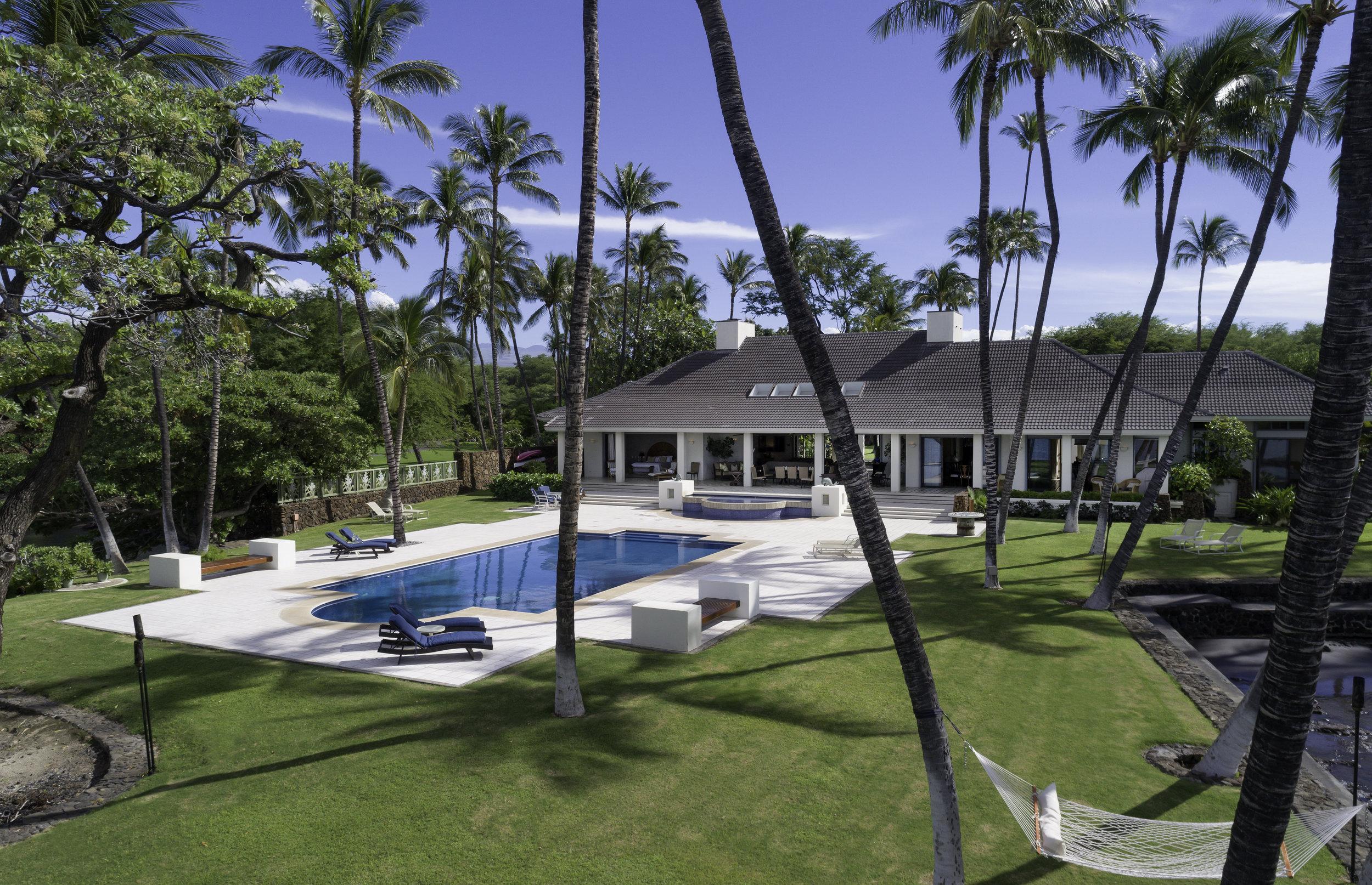 Honuala'i Estate | 69-1566 Puako Beach Drive |    $17.499 million    | 6 B   R / 7.5 BA    | 7,744    interior sq. ft.    | 1.16 acre lot |    MLS #626730