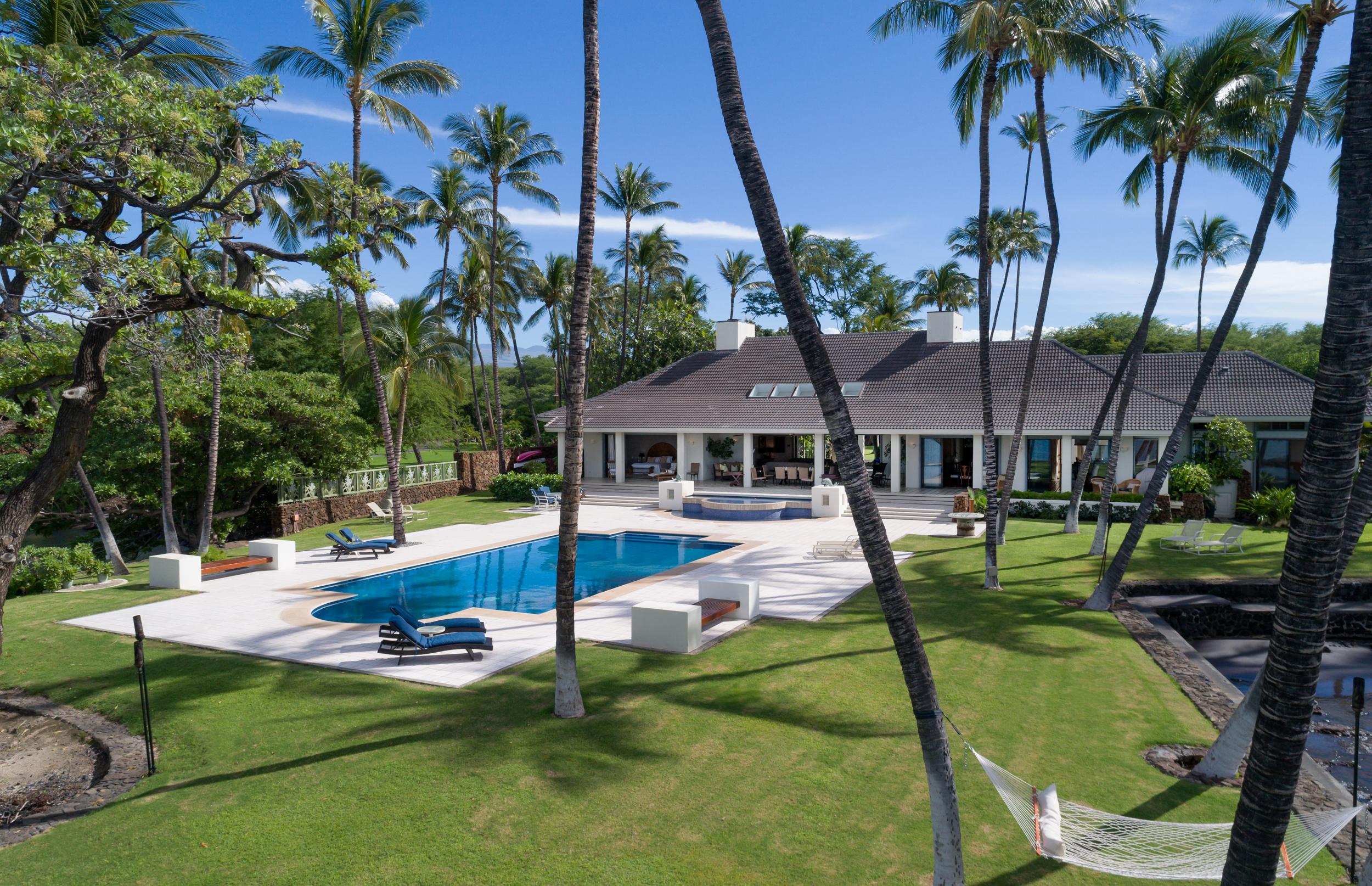 Honuala'i Estate is the epitome of gracious Hawaiian style. Honuala'i Estate | Puako | $17.499 million | 7,744 sq. ft. Interior | 6 BR / 7.5 BA + Office |  MLS#626730