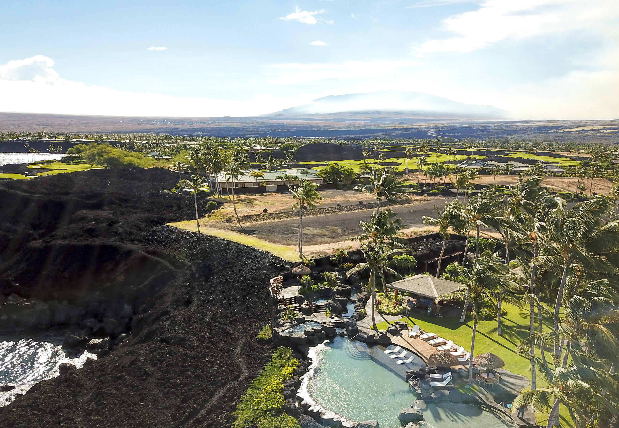 Oceanfront Lot 2 at Ke Kailani is perched above the luxury residential resort's private grotto with infinity pool, two spas and entertainment pavilions. Ke Kailani Lot 2 | Mauna Lani Resort, Kohala Coast | $4.95 million | 1.33 acres |  MLS#620199