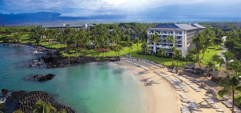 The oceanfront Fairmont Orchid at Mauna Lani Resort on Hawaii Island.