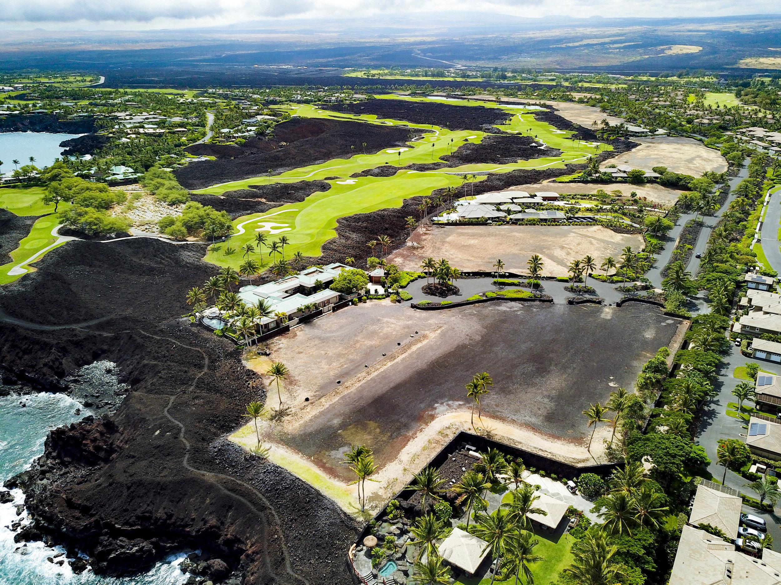 Aerial view of Ke Kailani at Mauna Lani Resort.