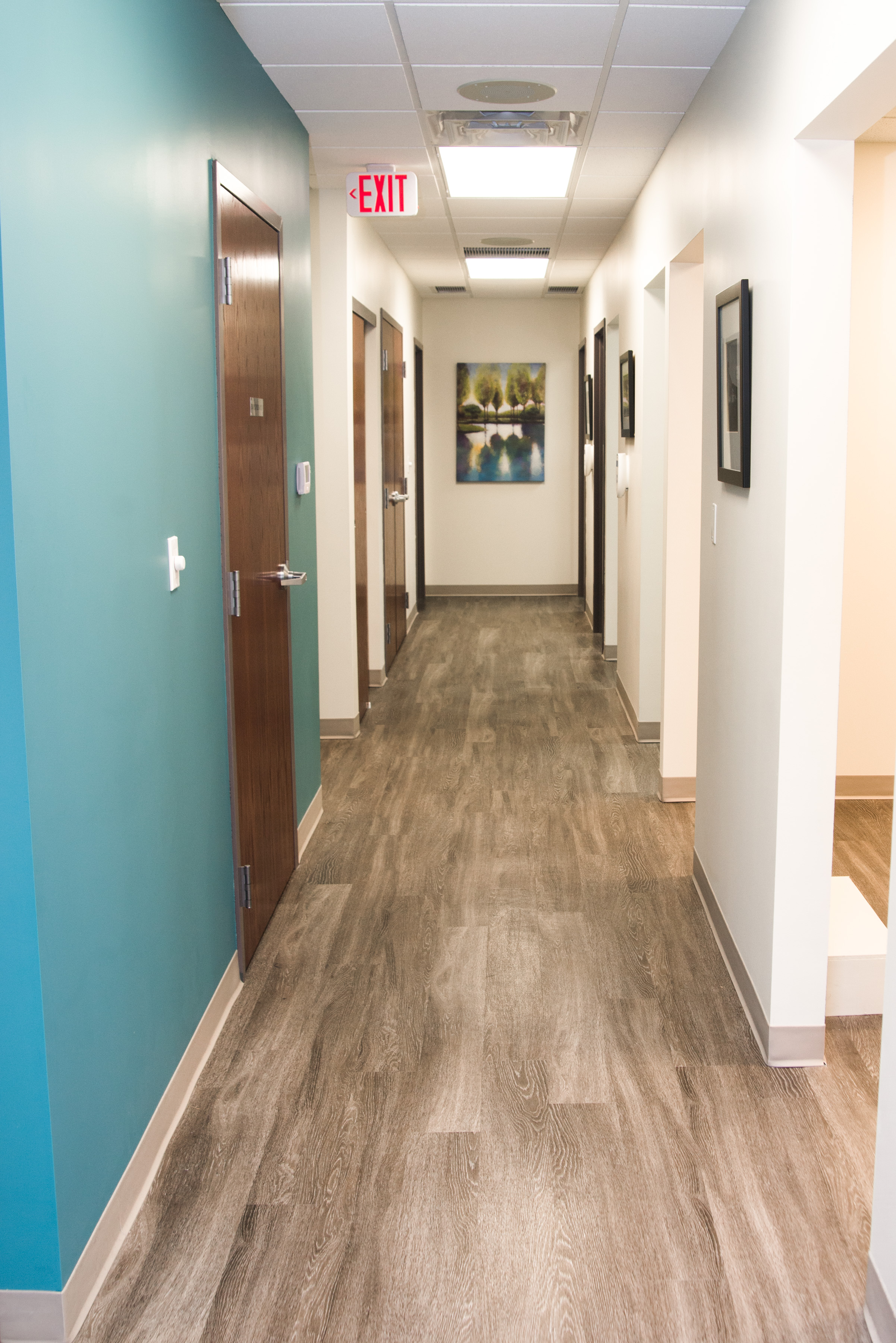 Empty Hallway At Peter Family Dentistry