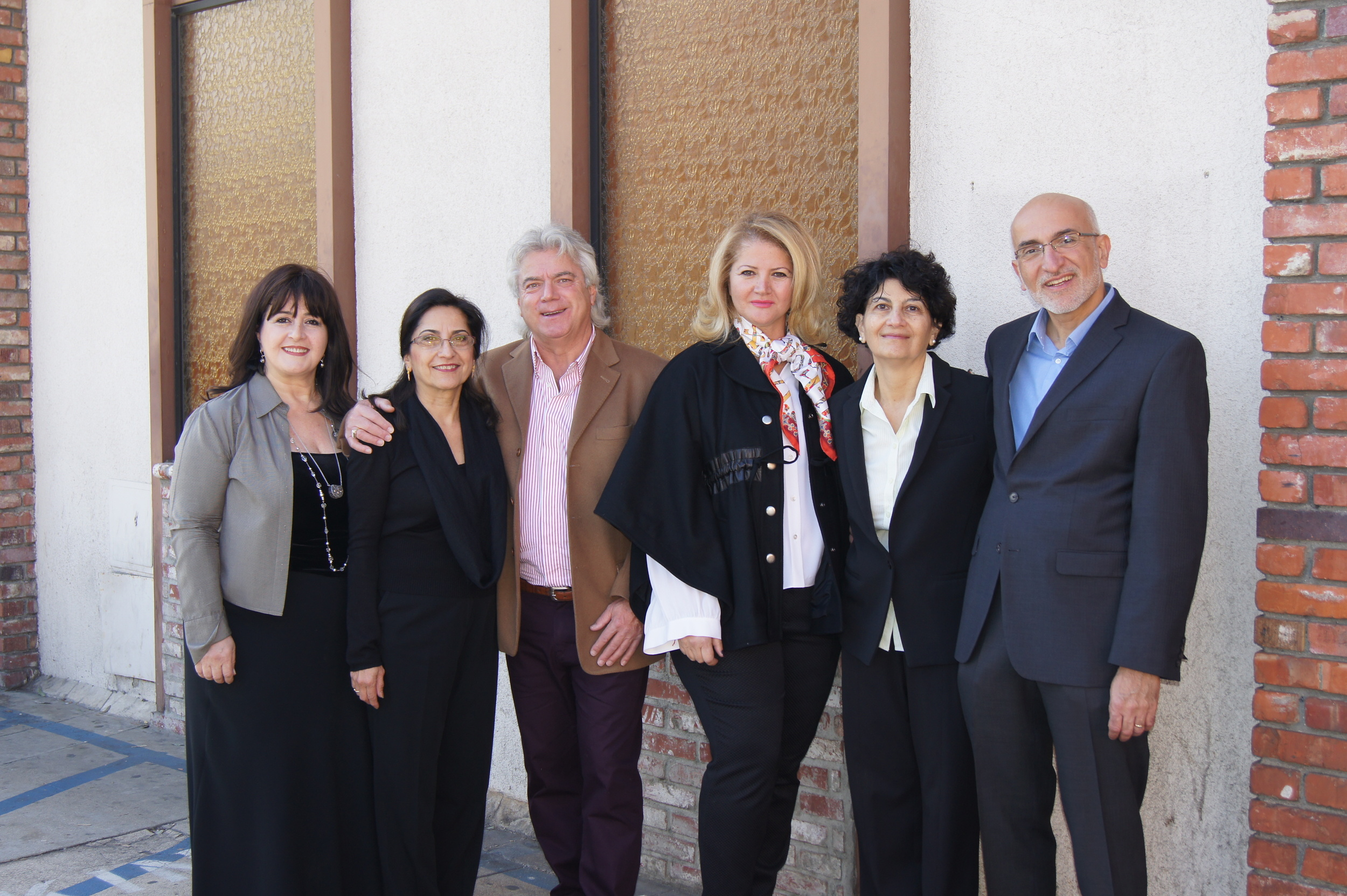 LFA Team  From left, ALma Aroustamian, Ojeni Sammis (Founder), Jack Metchikian, Meline Melkonian, Ida Martyrossian and Sevak Khodaverdian