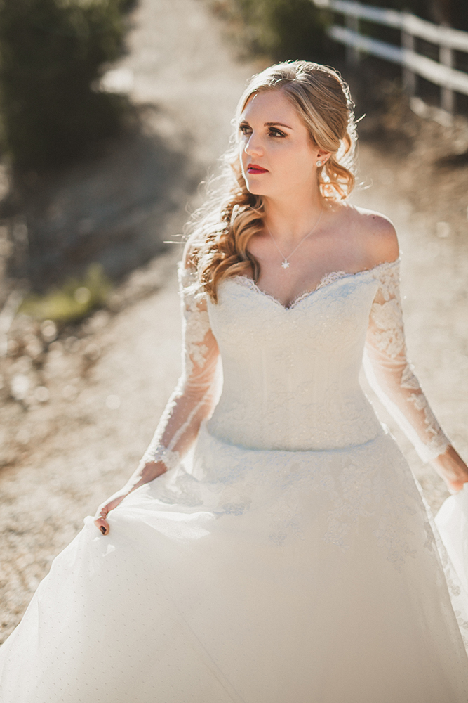 A bride with professional wedding makeup by Girl on the Go! Night Spa in San Diego.