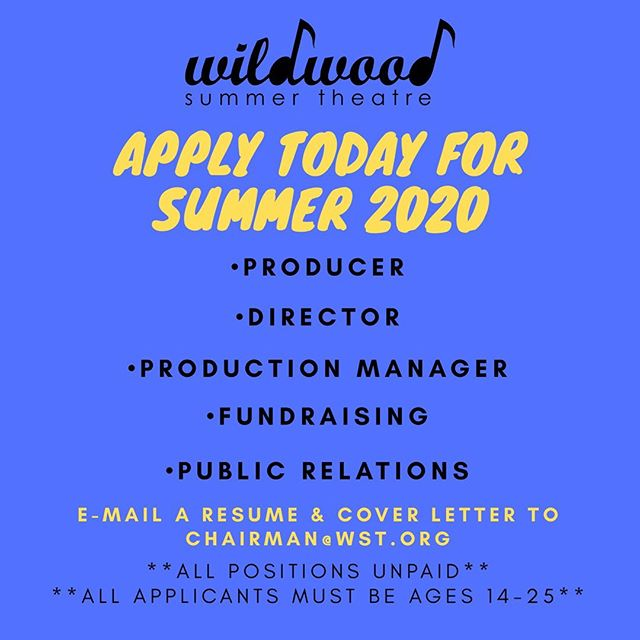 WST—the DC Metro area's ONLY youth-run theatre—is now accepting applications for our BIG FIVE positions for the 2019-2020 Season!  These positions include: •DIRECTOR• •PRODUCER• •PRODUCTION MANAGER• •FUNDRAISING• •PUBLIC RELATIONS•  Email your cover letter and resume to chairman@wst.org to apply! • • • • • • • #dctheatre #dctheatrescene #dctheatrecompany #youththeatre #youththeater #dctheater #dctheaterscene #artsdc #dcperformers #mdtheatre #mdtheatreguide #washingtontheatre #washingtontheater #districtofcolumbia #bethesdatheater #montgomerycountymd #dmv #dmvtheatrecommunity #dmvtheatre #dmvperformance #bethesdamd