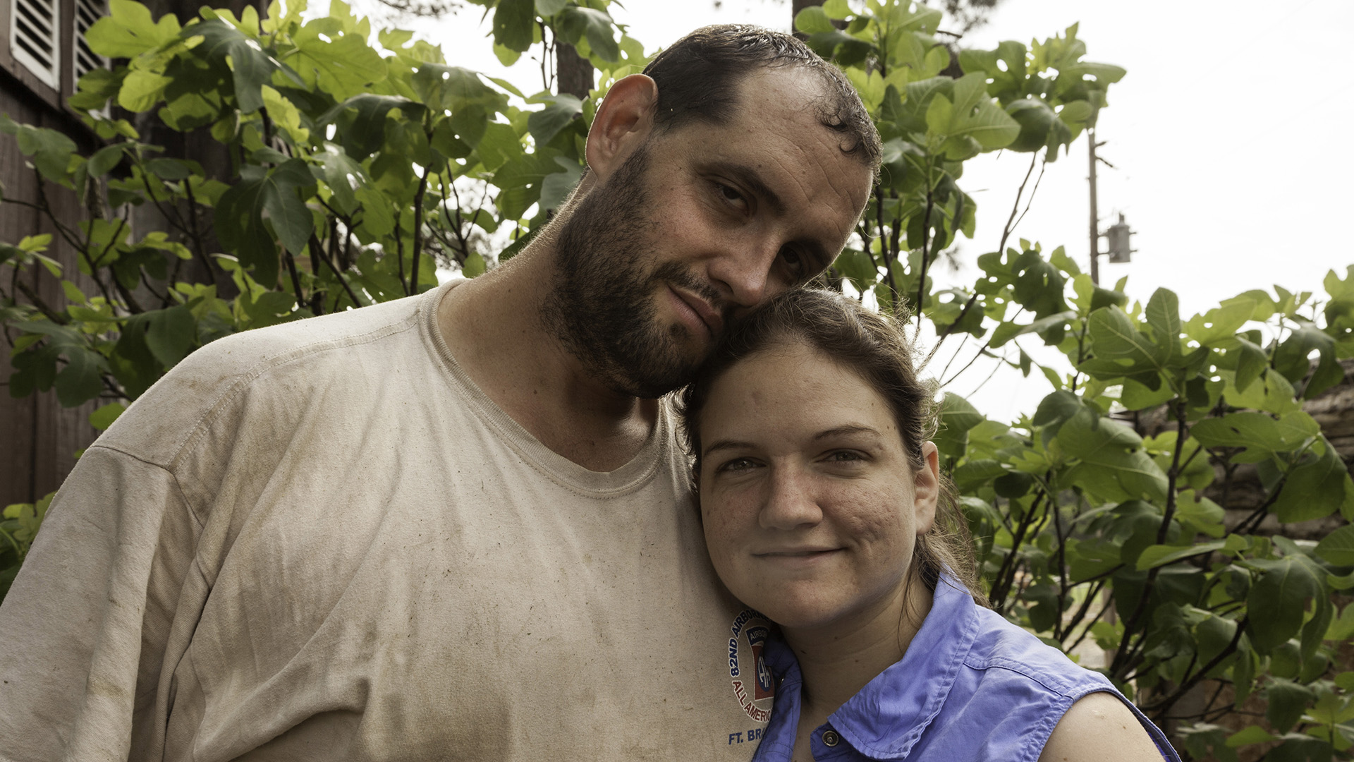 Alex Sutton, and his fiancé, Jessica Silberhorn, on their farm in Moore County, North Carolina in the spring of 2012. Alex met Jessica two years earlier by responding to her Craigslist ad looking for a fishing buddy.