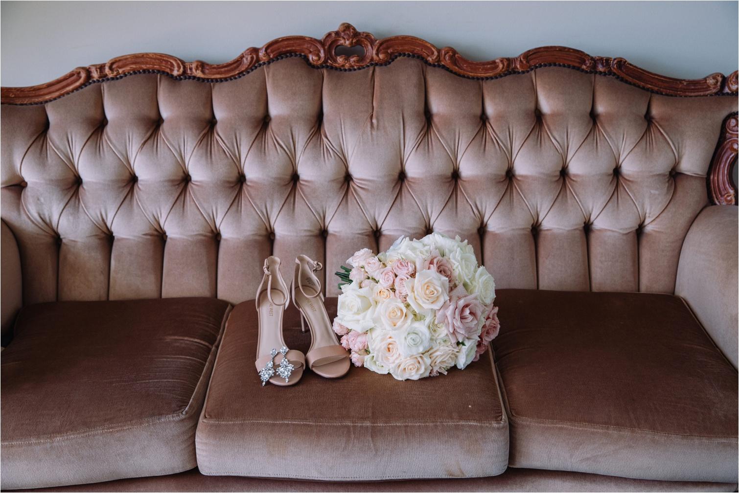 Bridal Bouquet and Shoes photo