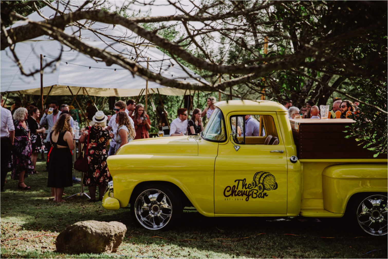 The Chevy Bar wedding