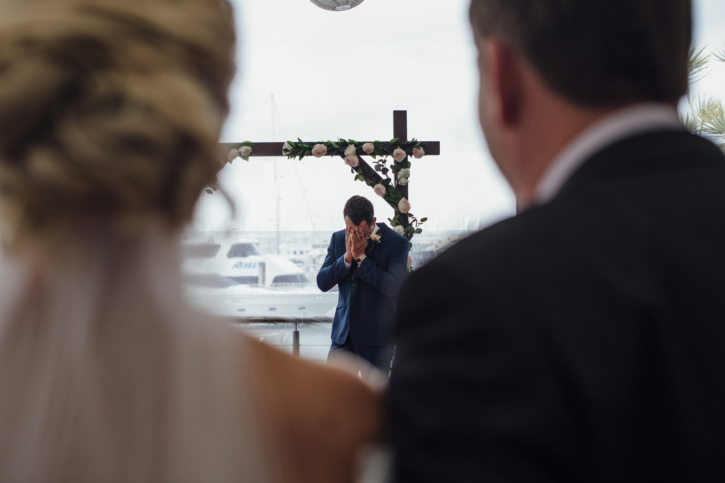Emotional groom videography captured