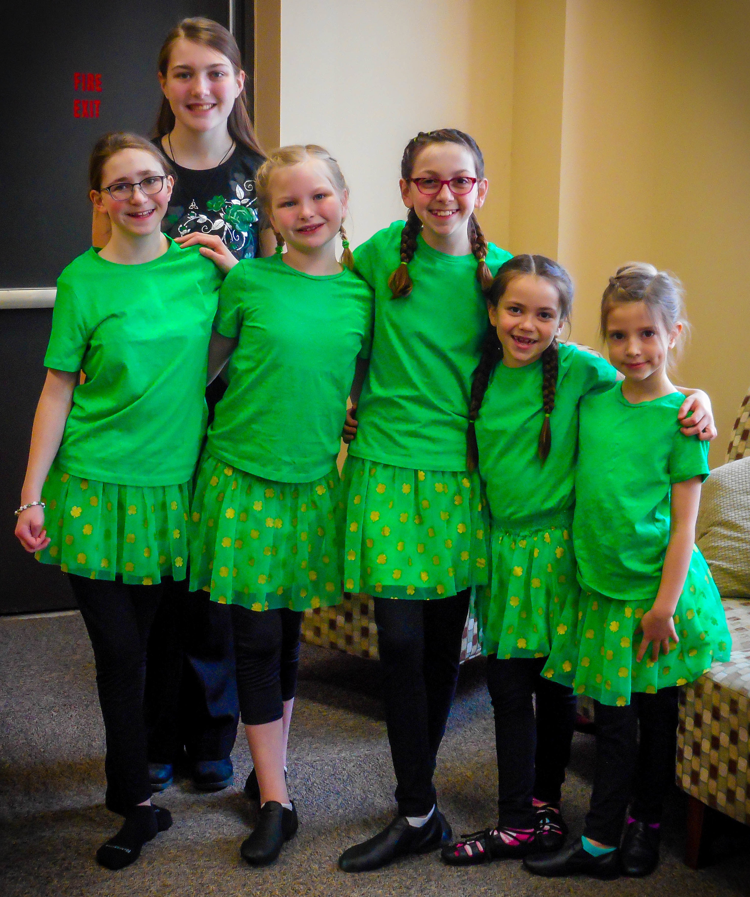 Irish Step Dance performance at West Iron library for Story Time in honor of St. Patrick's Day!