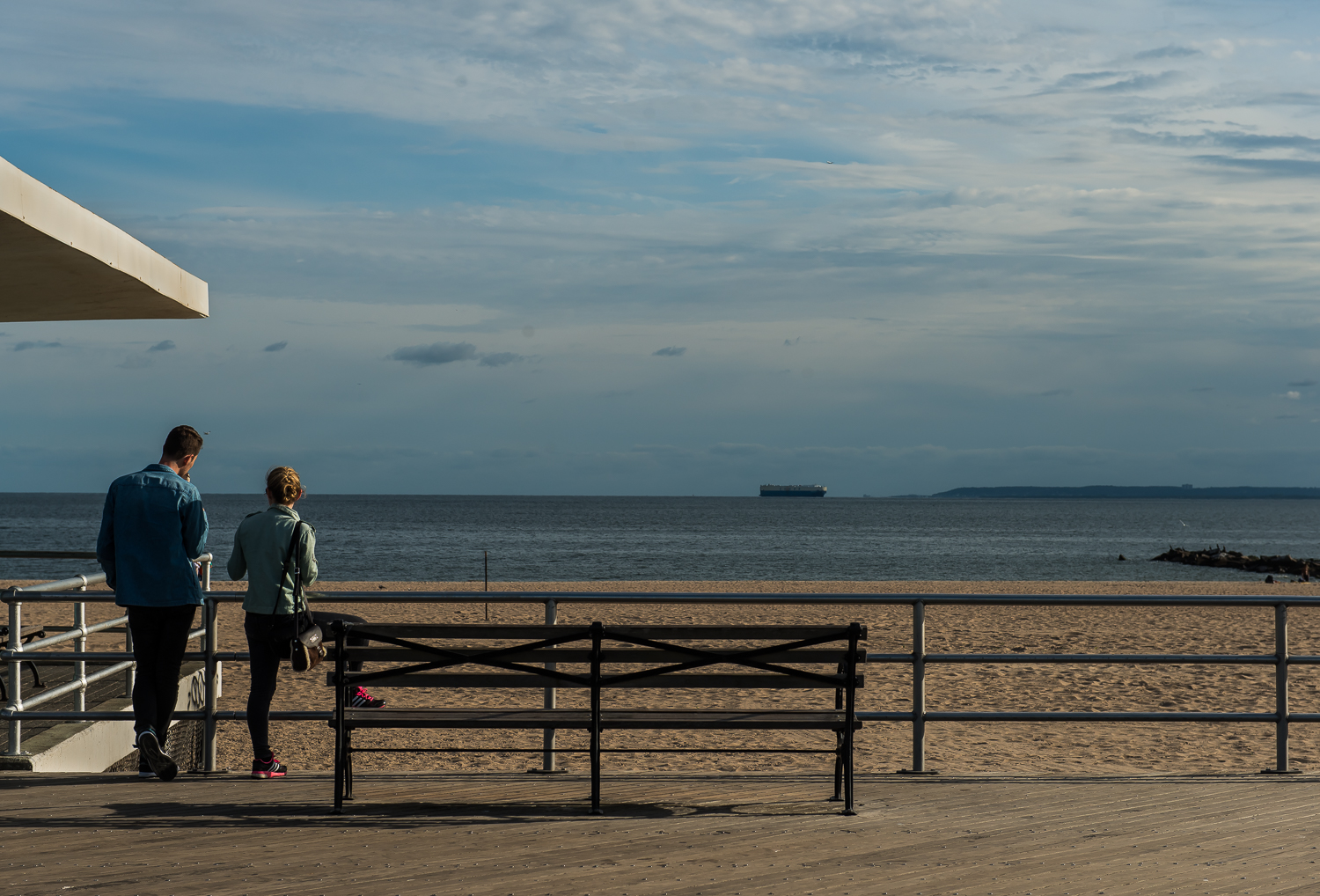 Coney Island - Taking in the view