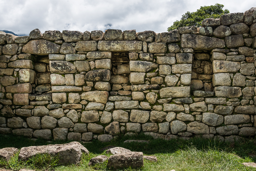 These structures were built with field stones.