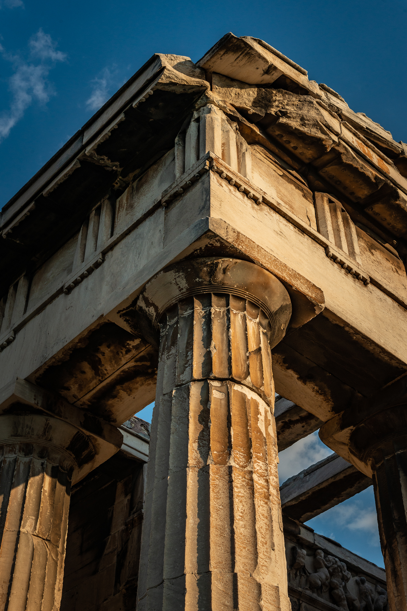 Architectural detail - top of the columns