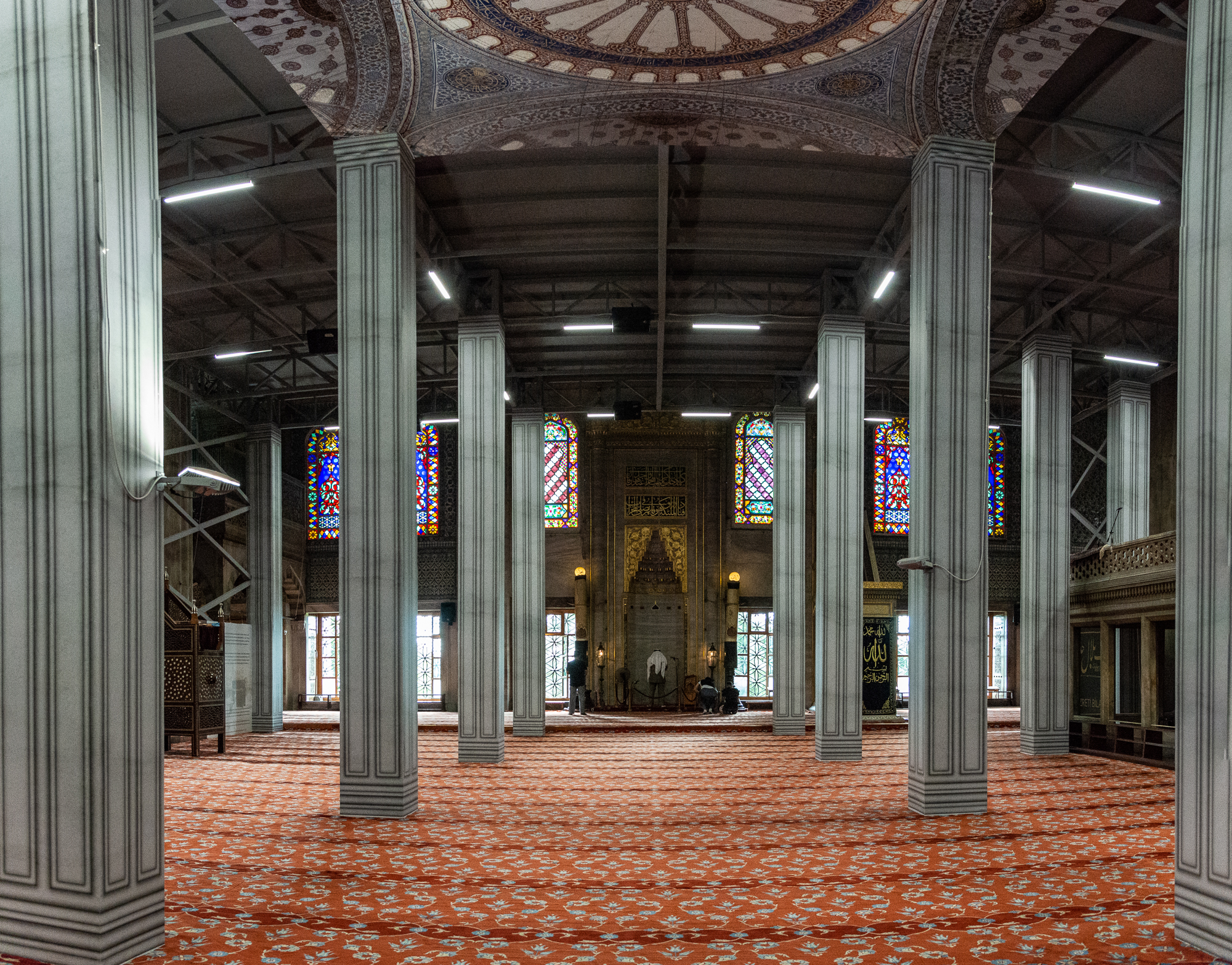 The main worship area - The mosque is only open to visitors outside of prayer times.