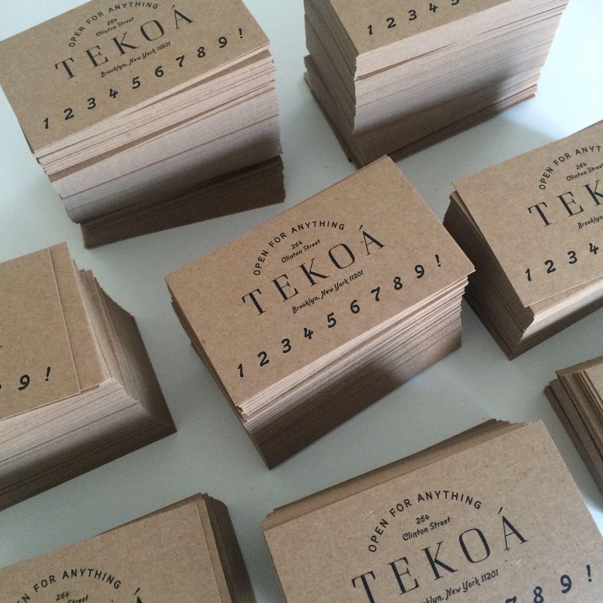 TEKOÁ's Promotional Business Card
