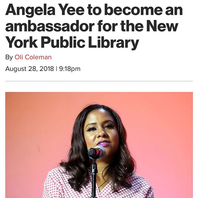 Yasss Yee! A lot of the time we overlook what a great resource the #NYPL can be for #Entrepreneurship and #Creatives in general. Hopefully @angelayee can bring some awareness to this.