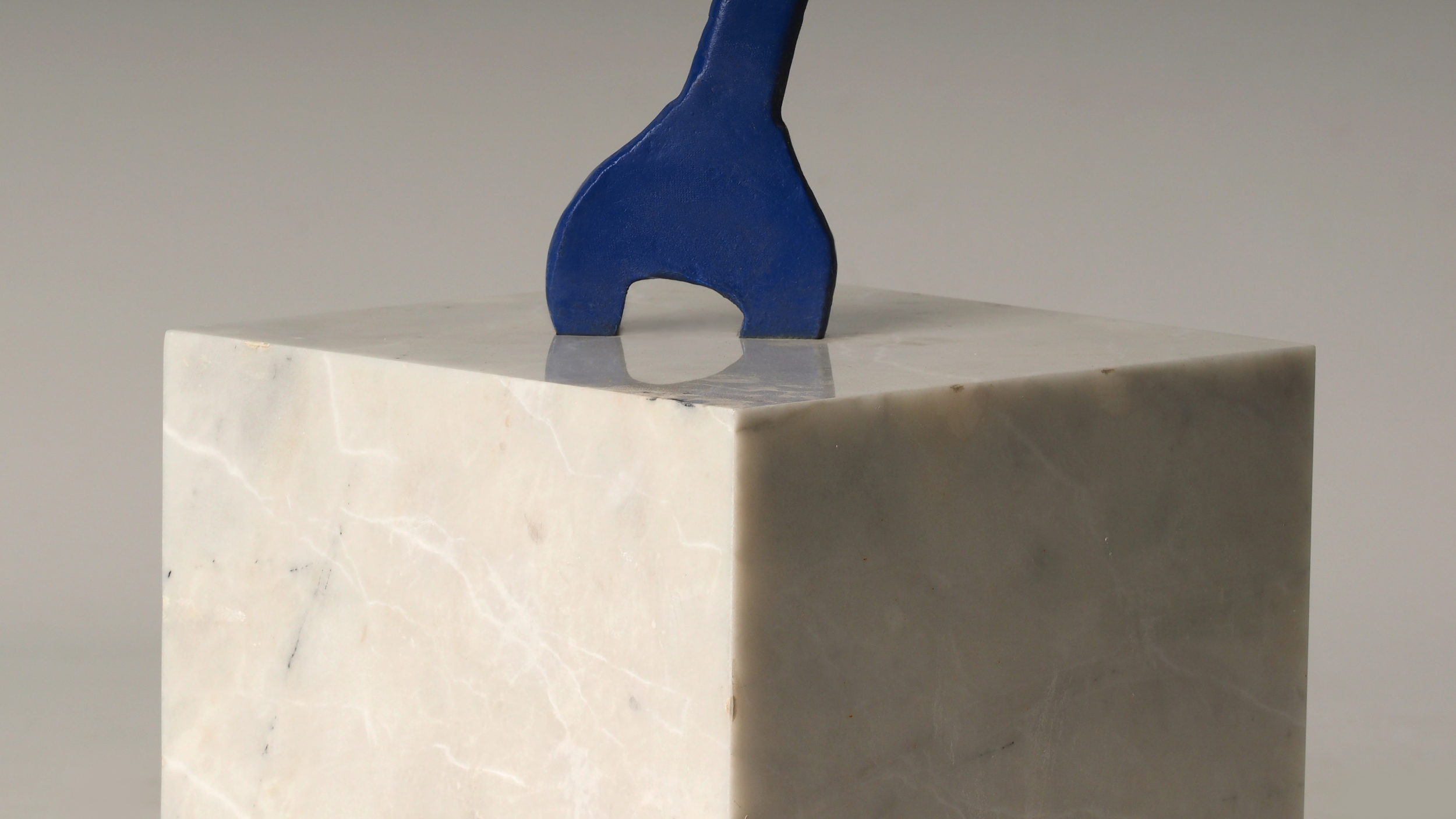 Wrench in Marble Cube (Detail)