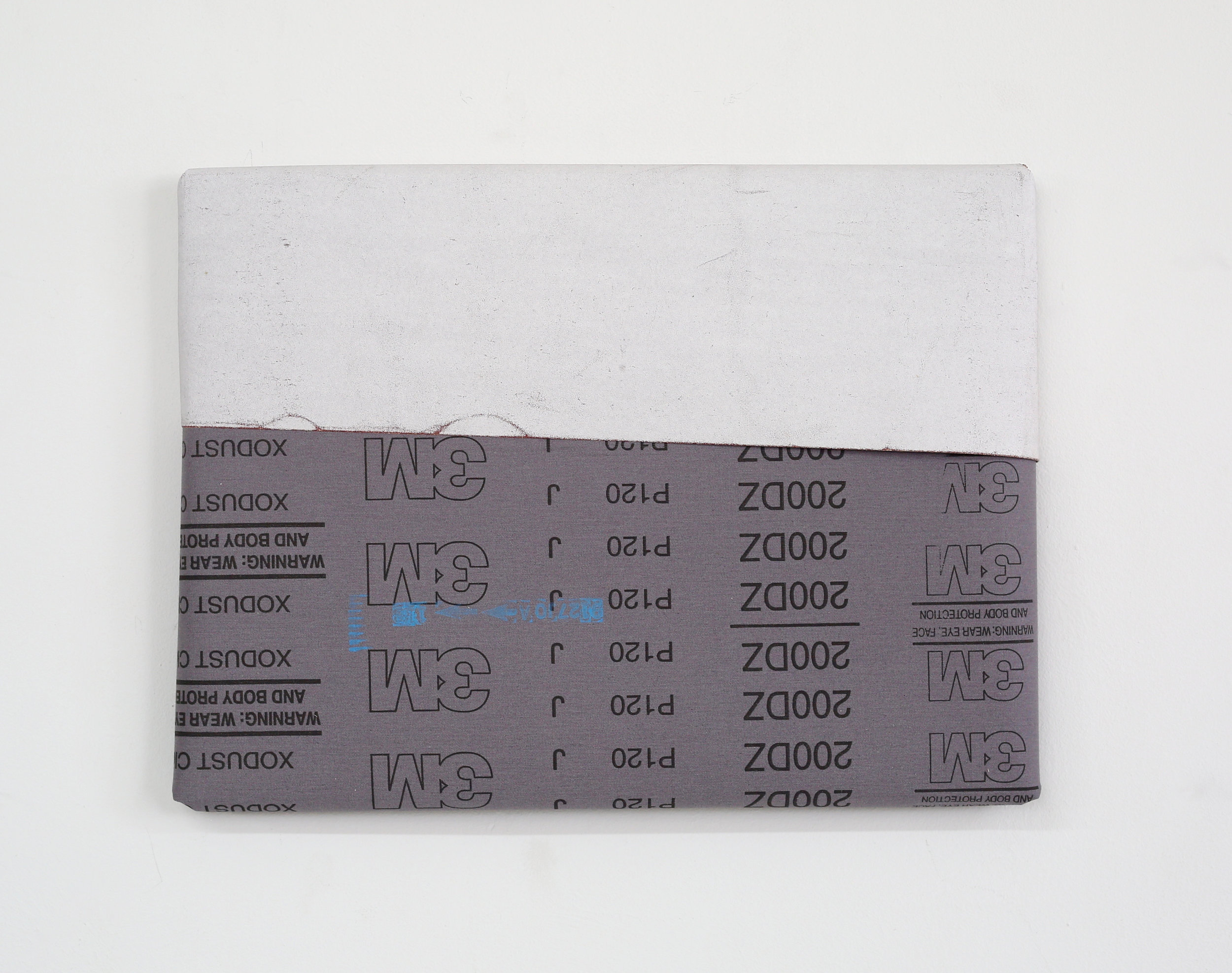 Untitled (White with Back of White, 150 Grit )
