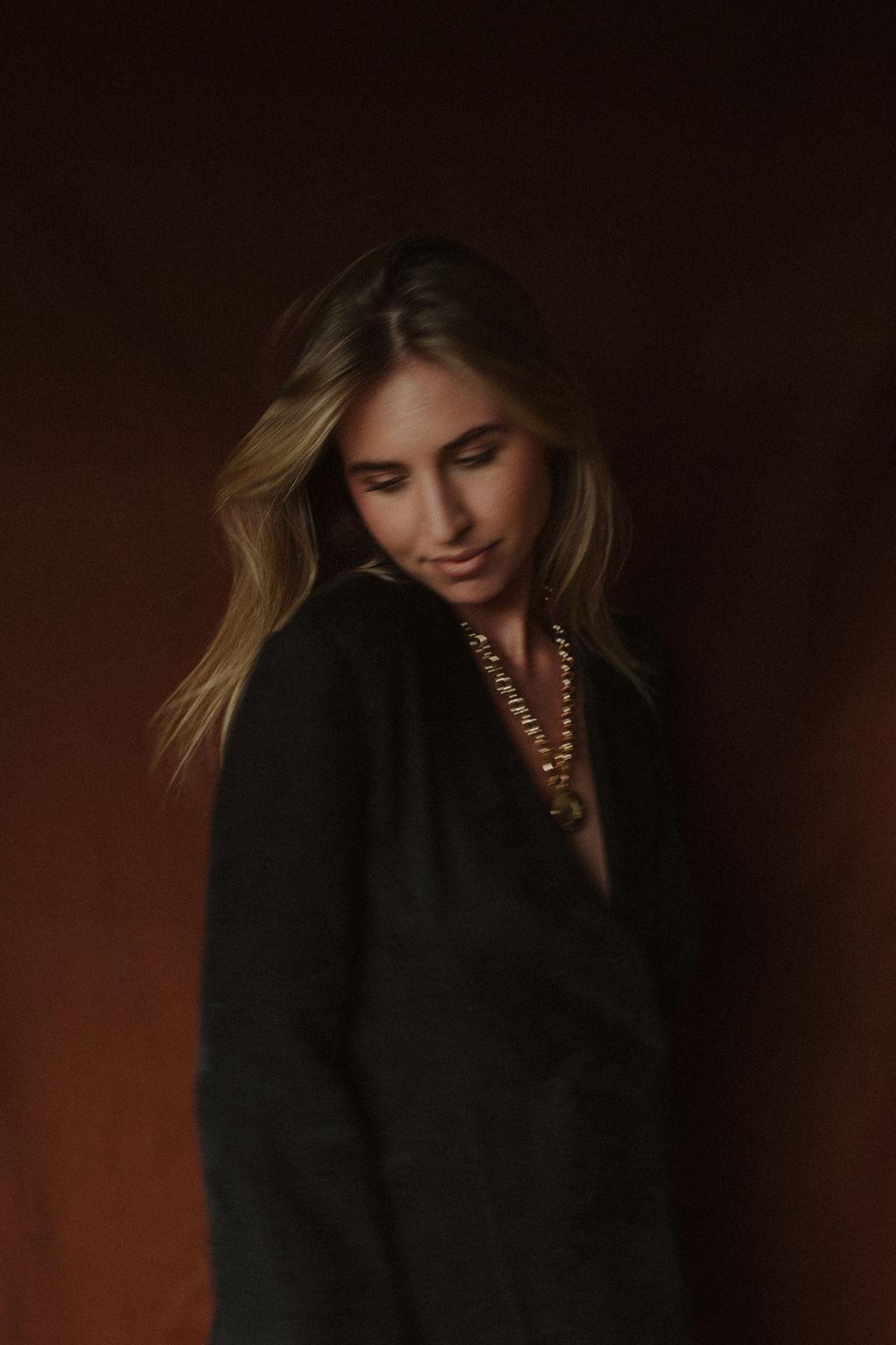 Third Form | Paisley Soft Blazer Dress Reliquia | Superb Necklace