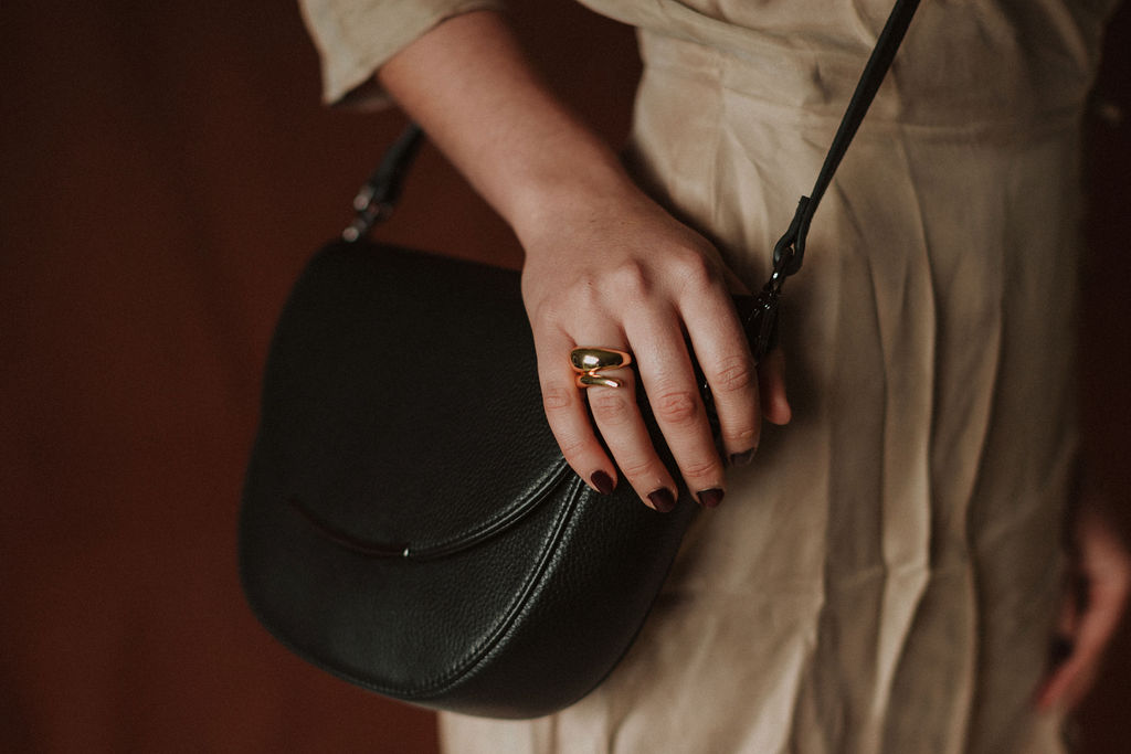Third Form | Revolution Wrap Dress Status Anxiety | The Oracle Bag Reliquia | Kira Ring