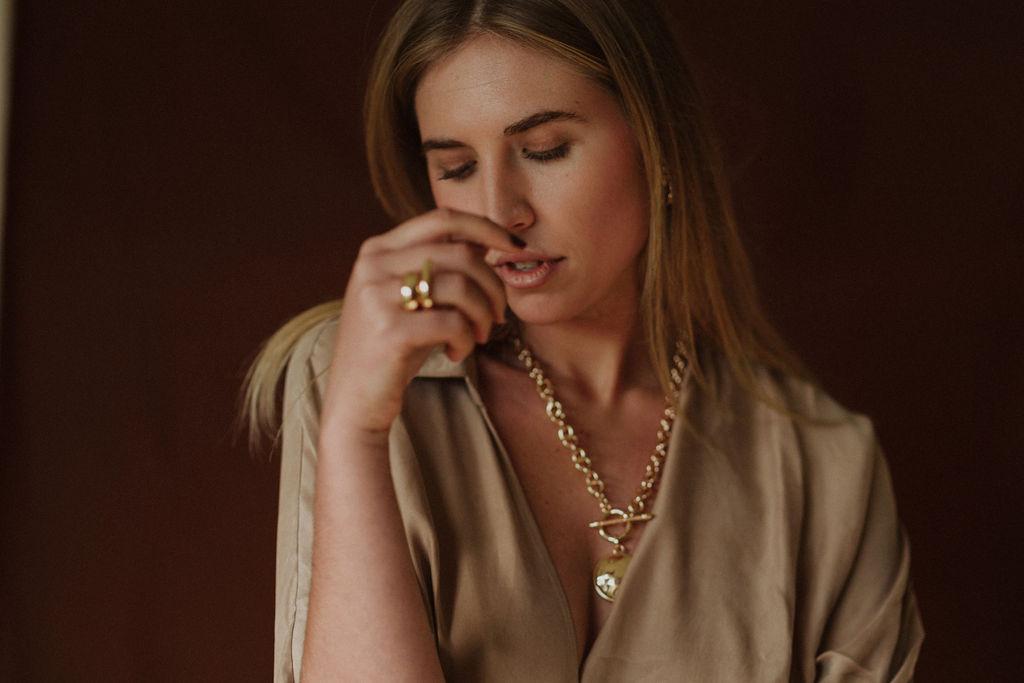 Third Form | Revolution Wrap Dress Reliquia | Superb Necklace + Kira Ring