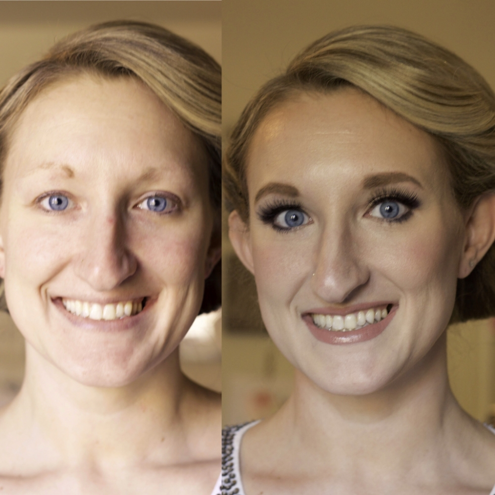 """My """"Before"""" & """"After"""" pictures from my makeover with Rachel Lane."""