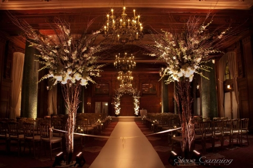 Gold and White New Years Eve Wedding Ceremony at the Willard InterContinental Washington DC