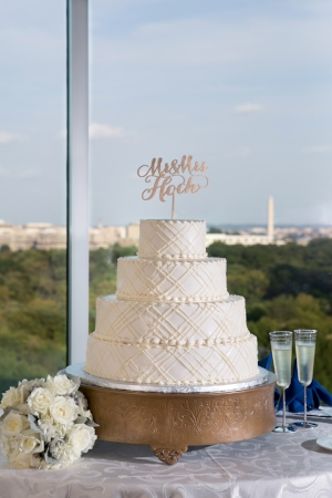 Classic Georgetown Washington DC Wedding at the Key Bridge Marriott with Live Painter, Navy Blue and Gold by Sincerely Pete Events